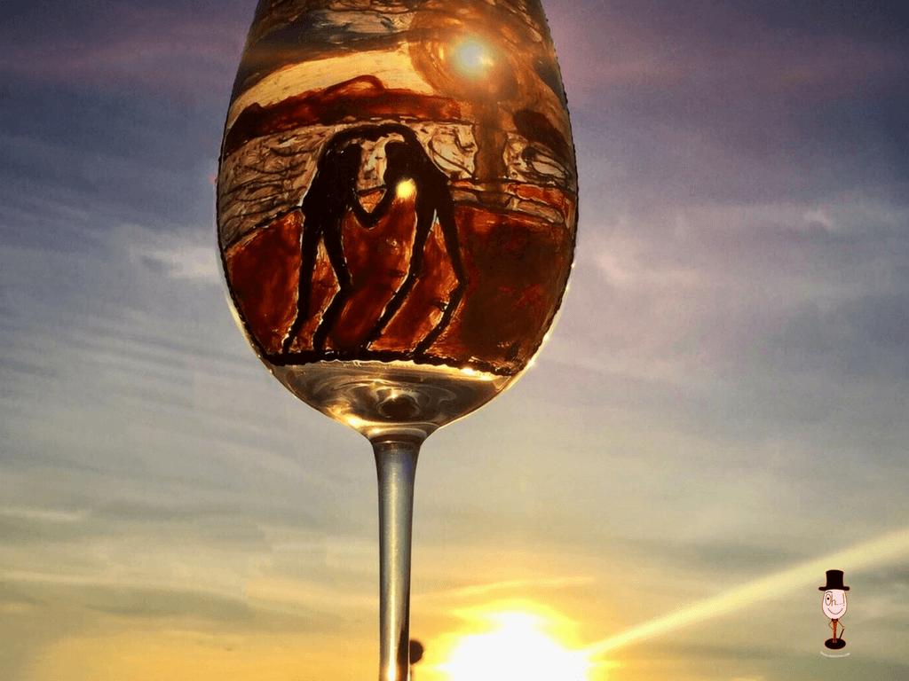 Ideas originales para tus copas de cristal pintadas a mano