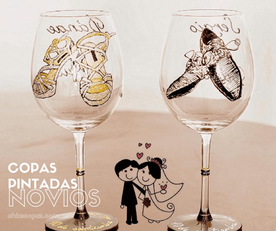 Copas decoradas para bodas: el regalo perfecto para una boda